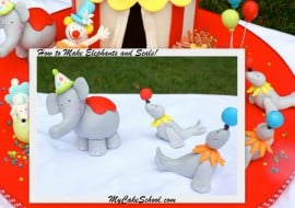 Learn how to model Elephant and Seals for a circus or zoo cake! MyCakeSchool.com!