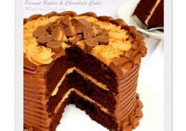 Fantastic Peanut Butter and Chocolate Cake recipe from scratch! MyCakeSchool.com