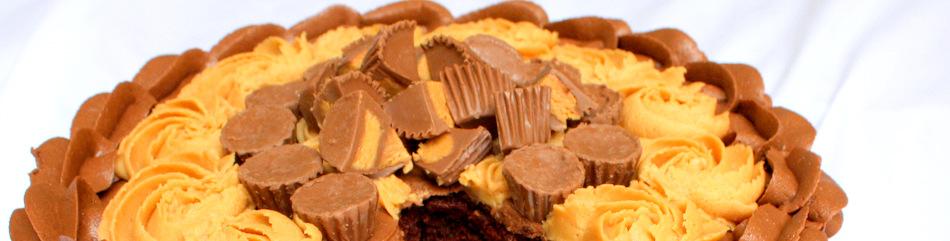 Peanut Butter and Chocolate Cake Recipe- MyCakeSchool.com