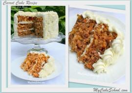 Carrot Cake Recipe- MyCakeSchool.com