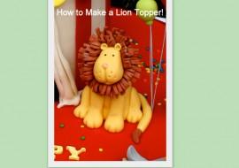Lion Topper Tutorial~MyCakeSchool.com