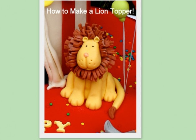 Learn to make a CUTE Lion Cake Topper in this MyCakeSchool.com video tutorial! Perfect for Circus and Jungle Themed Parties!