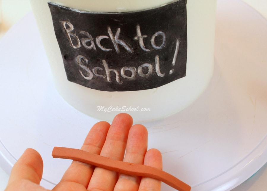 Back to School Cake Tutorial-MyCakeSchool.com