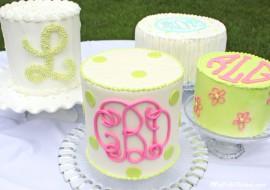 Monogramming on Cakes-Member Tutorial Library-MyCakeSchool.com