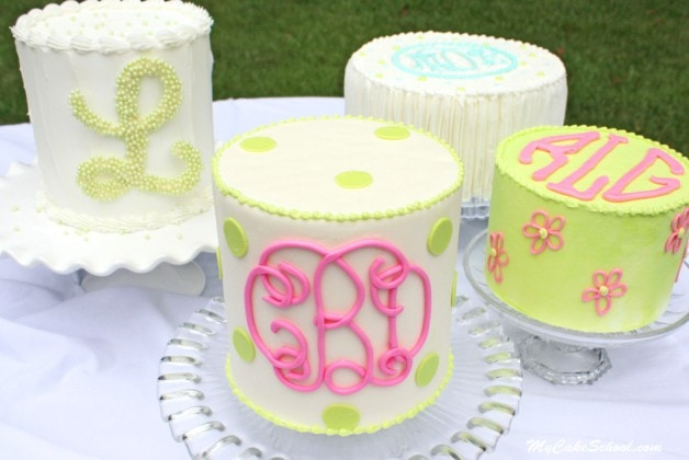Monogramming on Cakes-Member Tutorial Library-MyCakeSchool.com