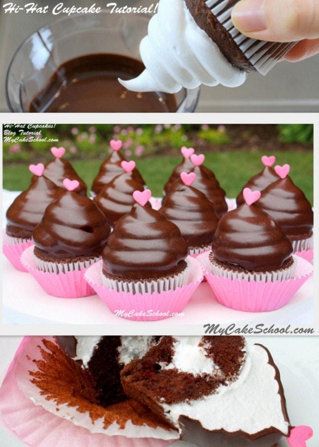Hi Hat Cupcake Tutorial by MyCakeSchool.com