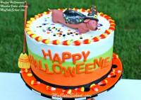 Happy Halloweenie! Video tutorial by MyCakeSchool.com