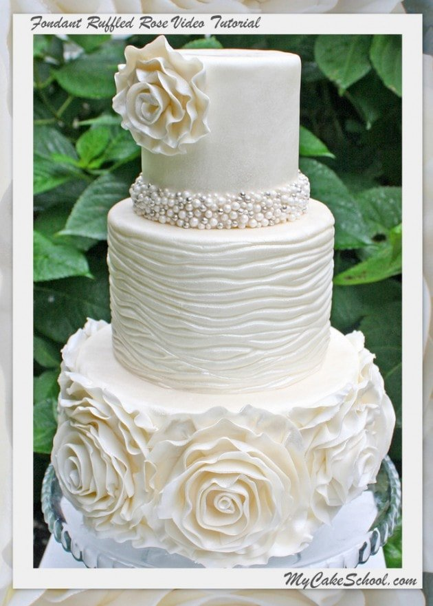 how to make a fondant ruffle wedding cake fondant ruffled cake tutorial member my cake 15813