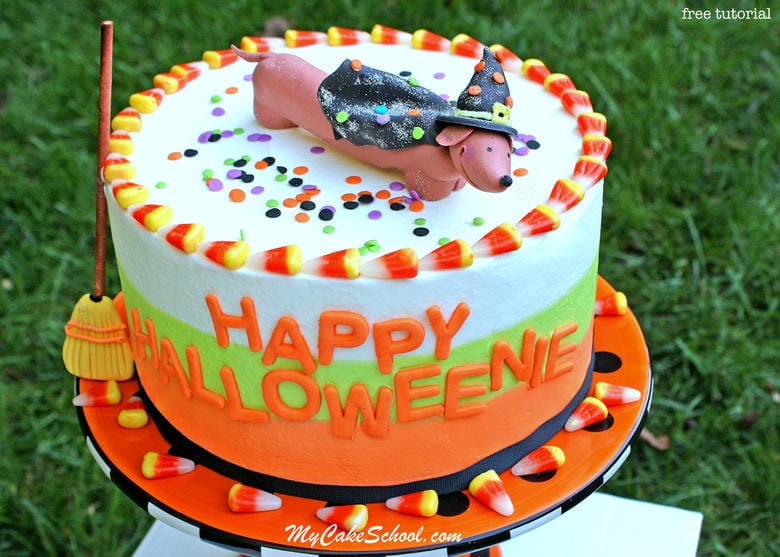 Happy Halloweenie! Free Cake Video~ Featuring Topper & Tri-Colored Buttercream