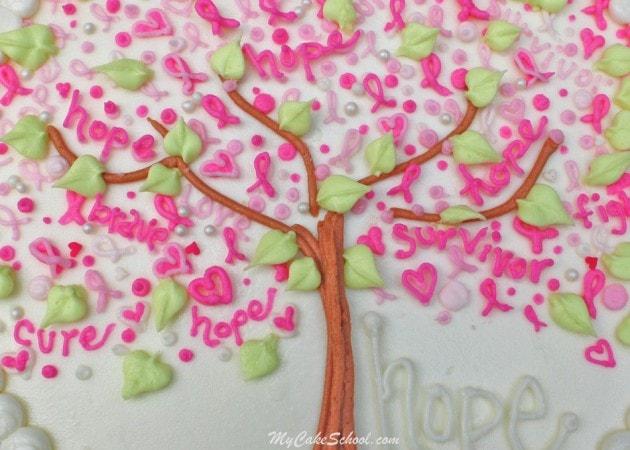 Breast Cancer Awareness~ Blog Tutorial by MyCakeSchool.com