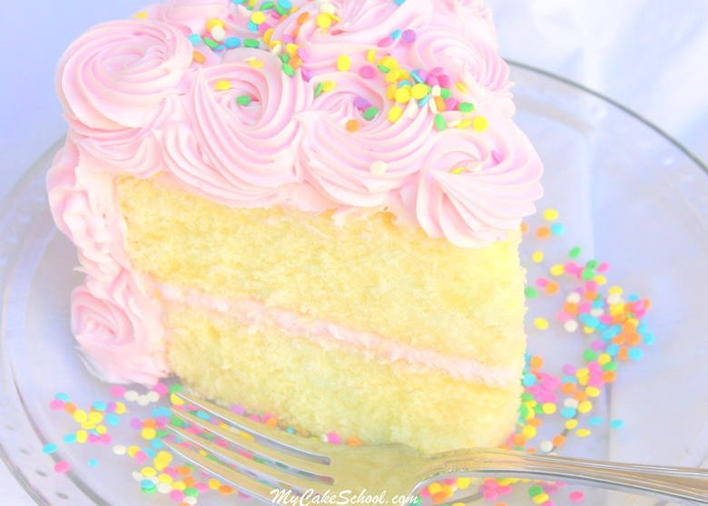 White Almond Sour Cream Cake~ A Scratch Recipe