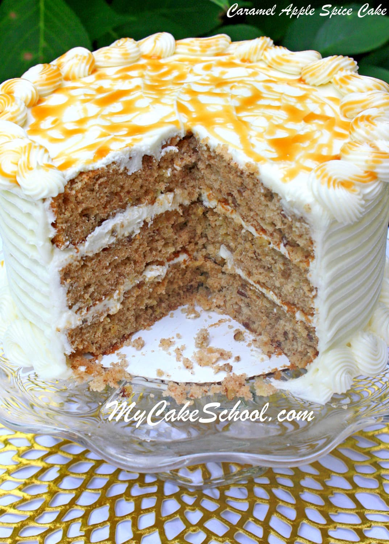 DELICIOUS Caramel Apple Spice Cake Recipe by MyCakeSchool.com!