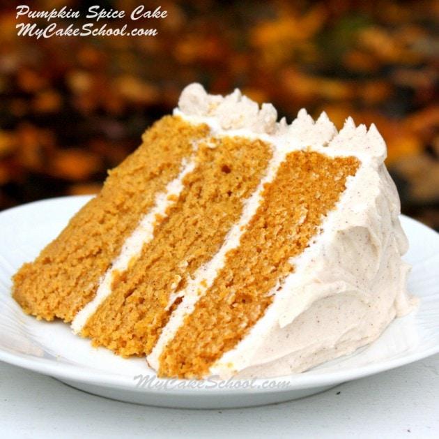 Pumpkin Spice Cake~ {Scratch Recipe} | My Cake School