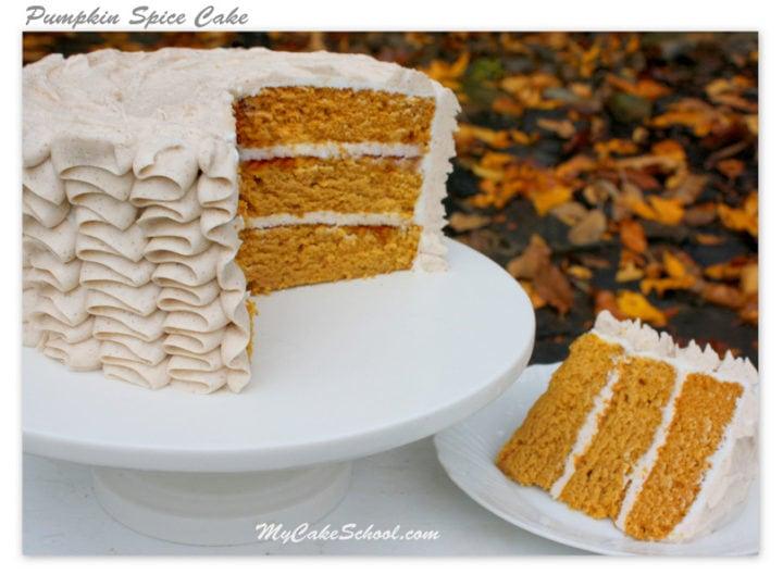 Delicious Moist Pumpkin Spice Cake Recipe From Scratch My Cake School