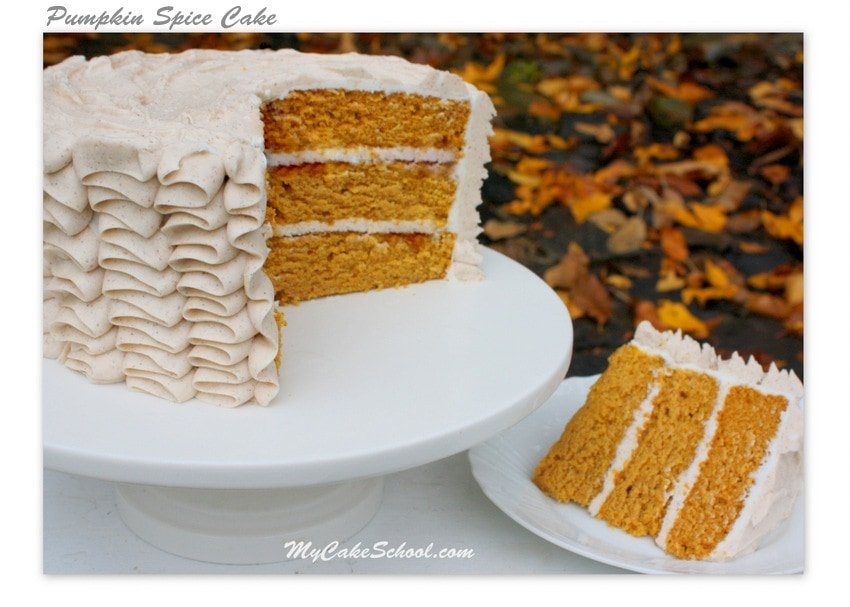 Delicious Pumpkin Spice Cake with Spiced Cream Cheese Frosting! Recipe ...
