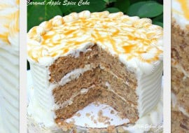 Moist and Delicious Caramel Apple Spice Cake! You will love this fantastic fall cake recipe! MyCakeSchool.com
