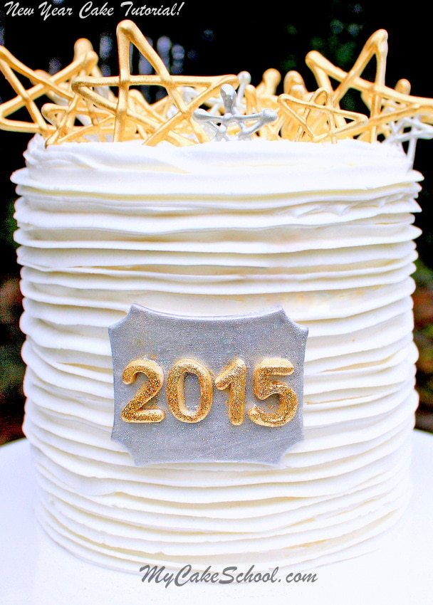 New Year Chocolate Cake Images : Happy New Year~2015! Cake Tutorial {Blog} My Cake School