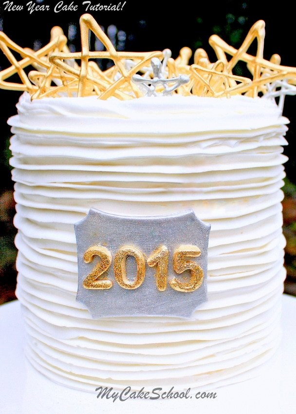 Cake Design For New Year : Happy New Year~2015! Cake Tutorial {Blog} My Cake School