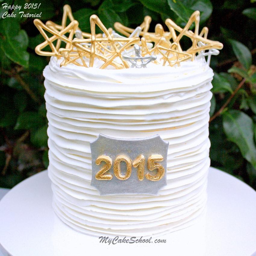 New Year Cake Tutorial By MyCakeSchool.com