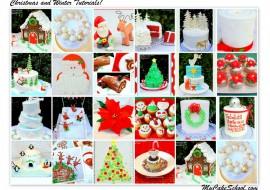 A Roundup of Christmas and Winter Cake Recipes, Ideas, and Inspiration! MyCakeSchool.com