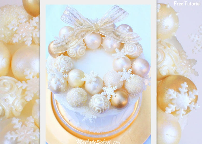 Ornament Wreath Cake~ Blog Tutorial