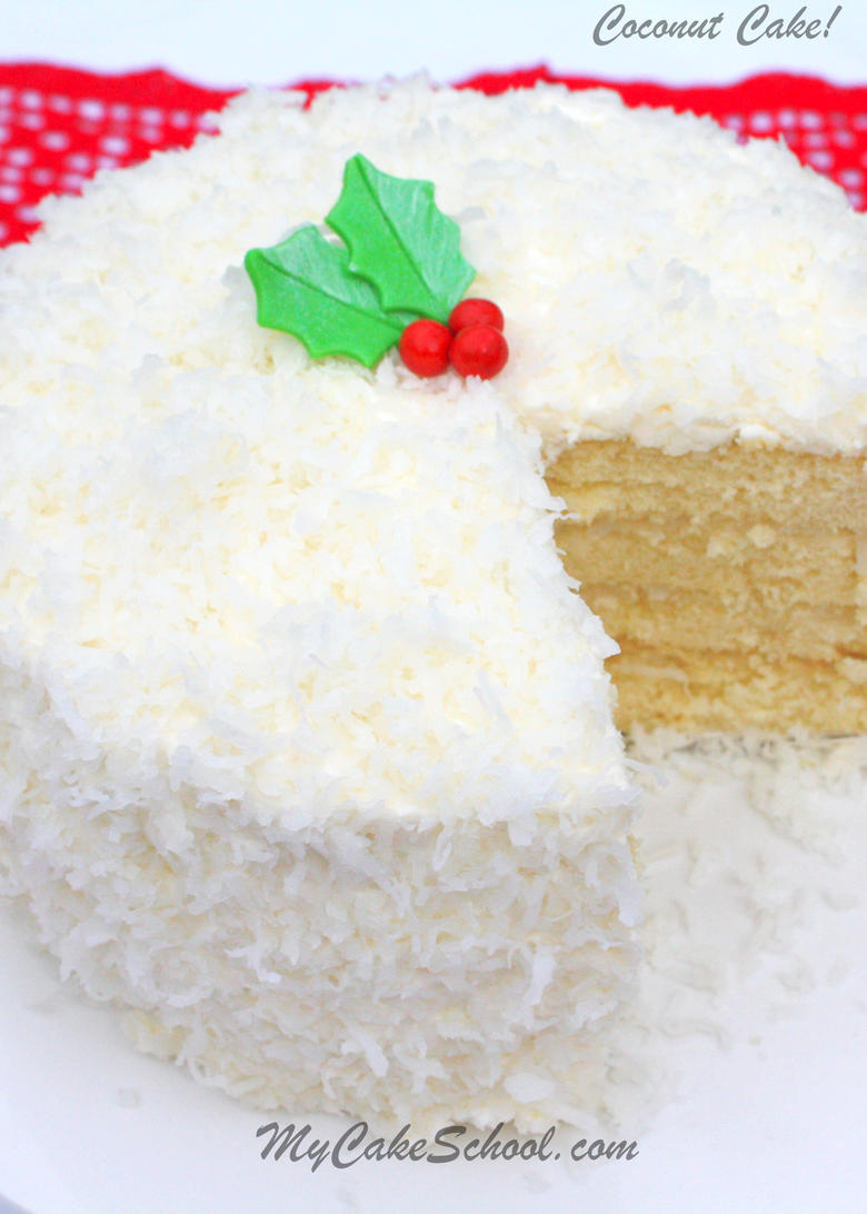 DELICIOUS Coconut Cake Recipe from Scratch by MyCakeSchool.com! Online cake classes, cake recipes, and more!