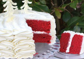 The most DELICIOUS scratch Red Velvet Cake Recipe! MyCakeSchool.com.