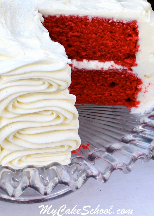 The BEST Classic Red Velvet Cake Recipe from scratch by MyCakeSchool.com!