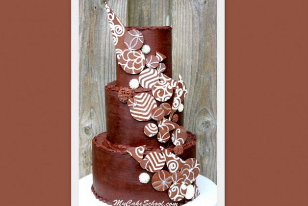 Create Dramatic Chocolate Accents!  Video by MyCakeSchool.com
