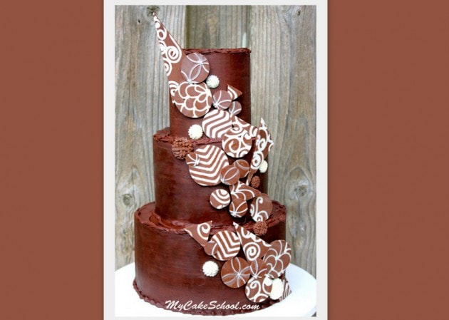 Learn to Make Elegant Chocolate Accents! A Cake Decorating Video by My Cake School.
