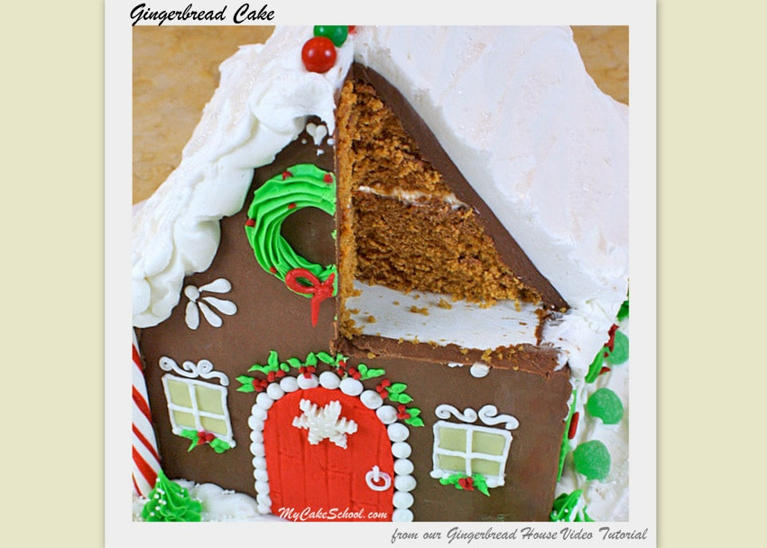 Gingerbread Cake~A Doctored Cake Mix Recipe- by MyCakeSchool.com