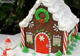 Gingerbread House Cake- Video Tutorial by MyCakeSchool.com!