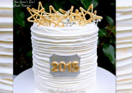 Fun and festive New Year's Eve Cake Tutorial by MyCakeSchool.com!