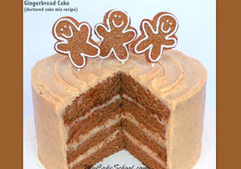 Delicious Gingerbread Cake Recipe - A Doctored Cake Mix Recipe by MyCakeSchool.com!