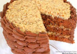Deliciously moist German Chocolate Cake Recipe from scratch! MyCakeSchool.com, online cake tutorials & recipes!