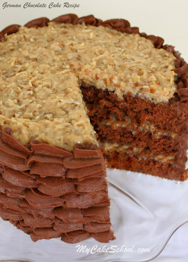 German Chocolate Cake With Filling