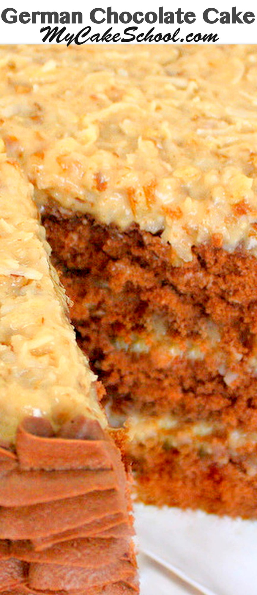 german chocolate cake from scratch german chocolate cake recipe scratch my cake school 4483