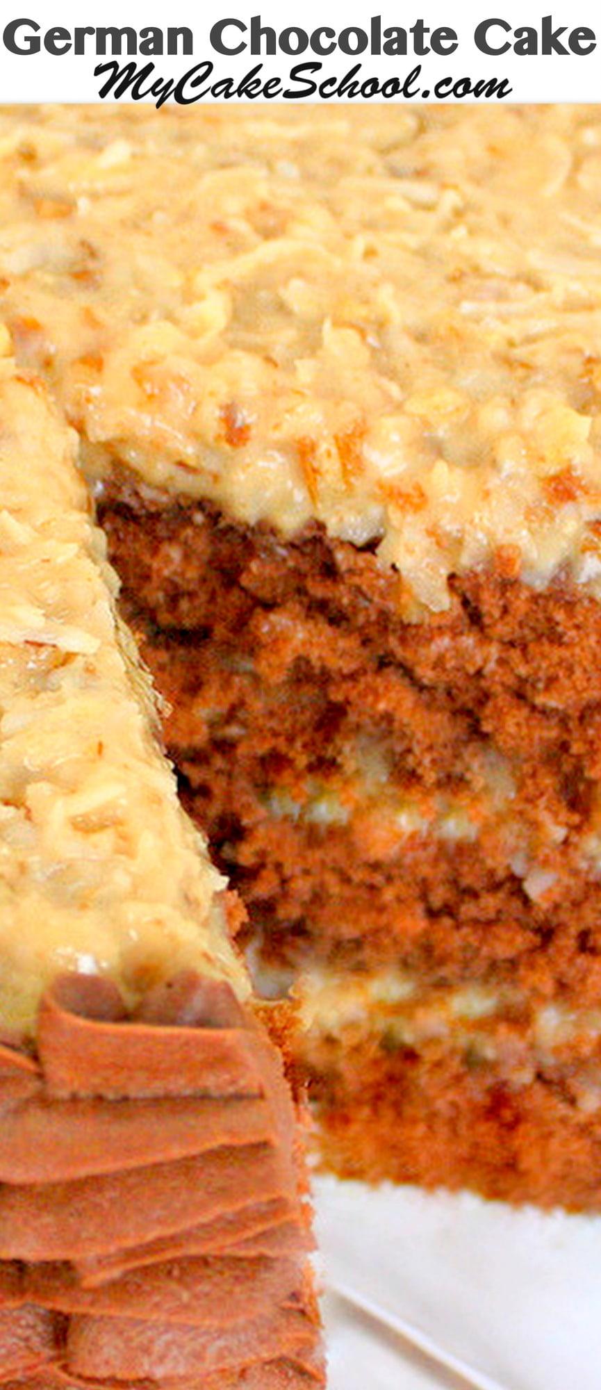 German Chocolate Cake Recipe Scratch My Cake School