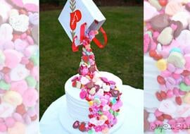 Candy Pour Cake