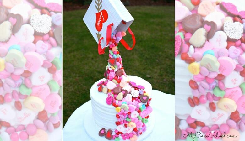 Candy Pour Cake~ A Gravity Defying Cake Video Tutorial