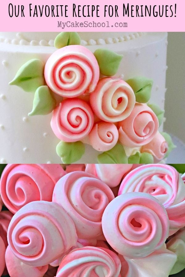 Our Favorite Recipe for Easy and Delicious Meringues! We love to decorate cakes and cupcakes with these!