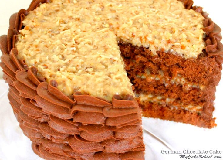 German Chocolate Cake Recipe! {Scratch}