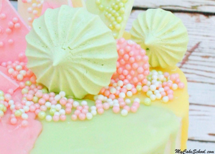 The Perfect Meringues Recipe by MyCakeSchool.com! They add fabulous color, height, and drama to cakes and cupcakes! Recipe by MyCakeSchool.com