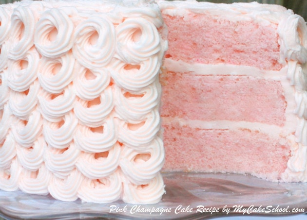Pink Champagne Cake Images : Pink Champagne Cake {Scratch Recipe} My Cake School