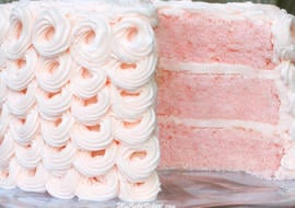 DELICIOUS Pink Champagne Cake Recipe from MyCakeSchool.com!