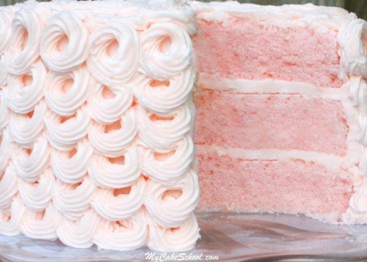 Pink Champagne Cake {Scratch Recipe}