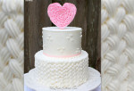 Braided Buttercream & Ruffled Heart Topper~ Tutorial by MyCakeSchool.com