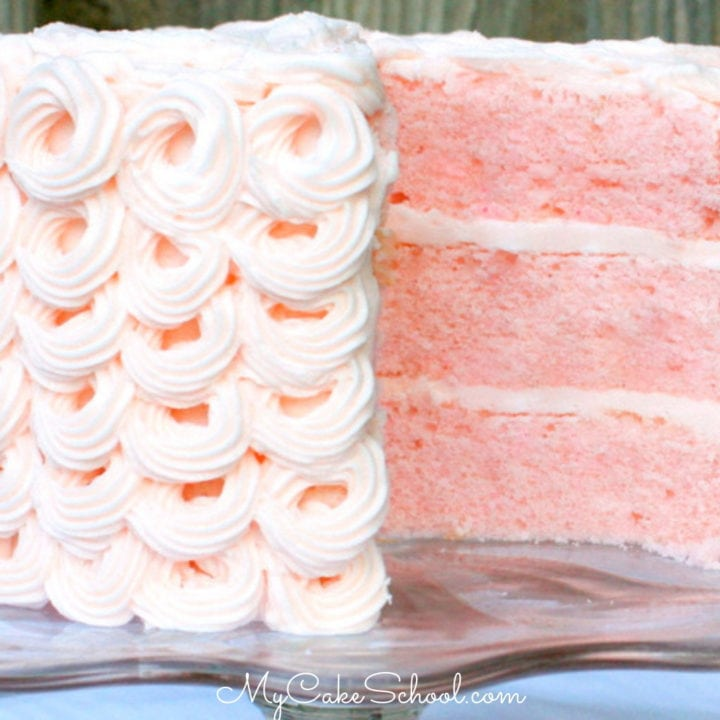 Delicious Pink Champagne Cake Recipe From Scratch My Cake School