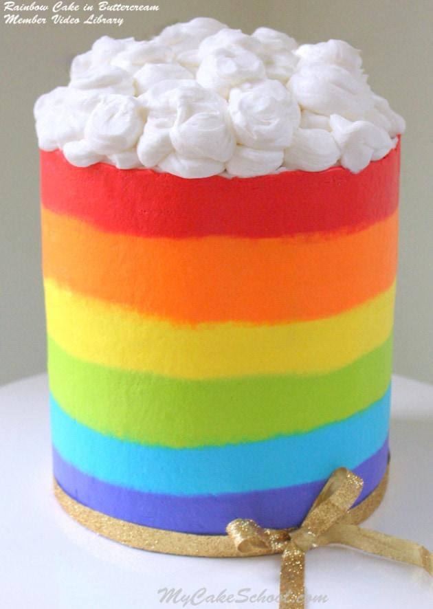 Striped Icing Cake