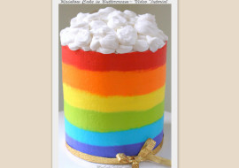 Rainbow Cake in Buttercream by MyCakeSchool.com- Member Video Tutorial